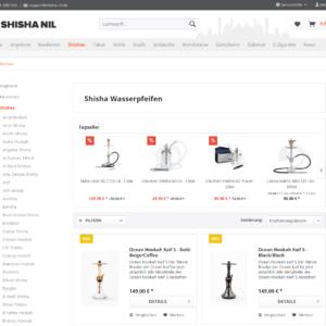 Shisha Nil - Online-Shop Ansicht