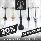 20 Prozent Wookah Shisha-Shisha Nil